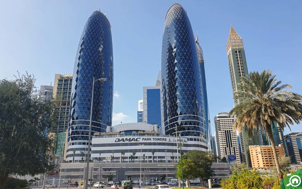 View of DAMAC Park Towers in DIFC