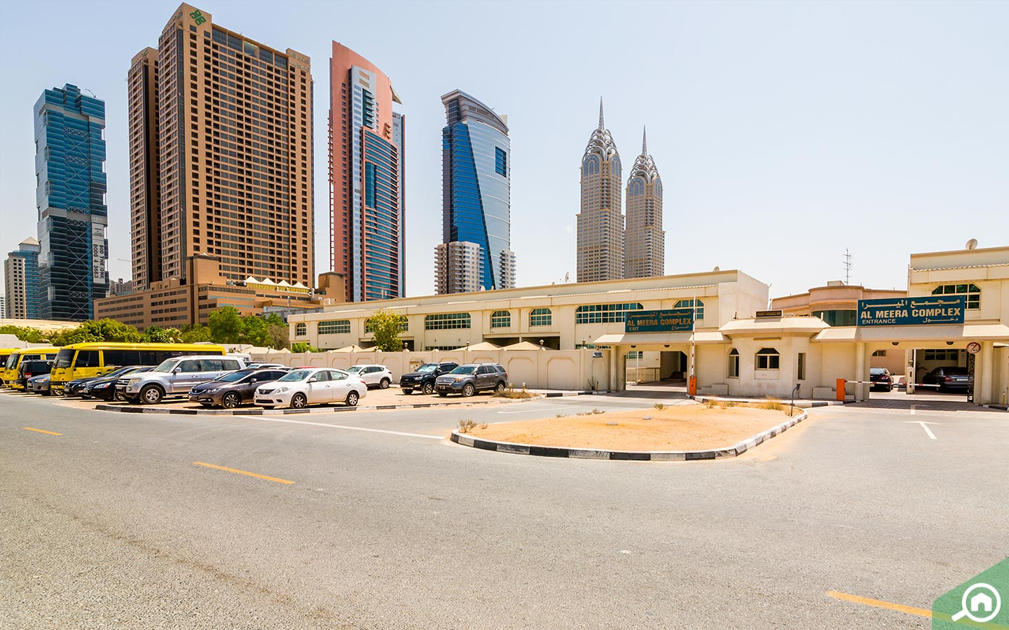 Cars Parked in the Dubai Internet City Parking