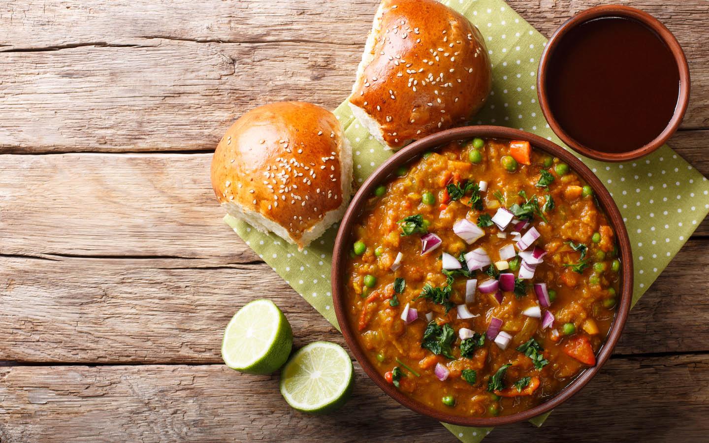 Pav Bhaji, an Indian dish