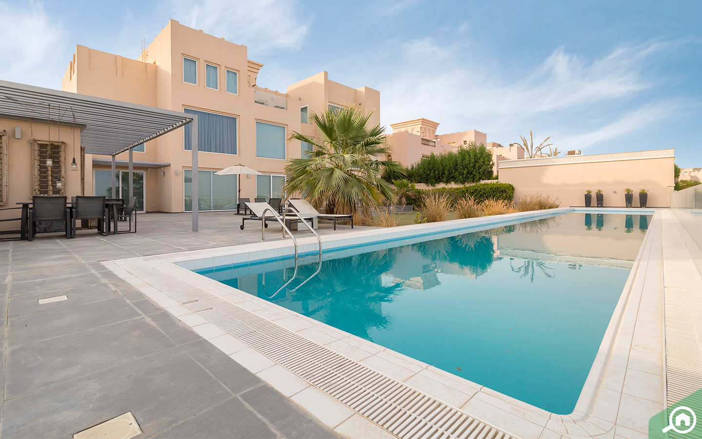 Private pool in a villa in Ras Al Khaimah