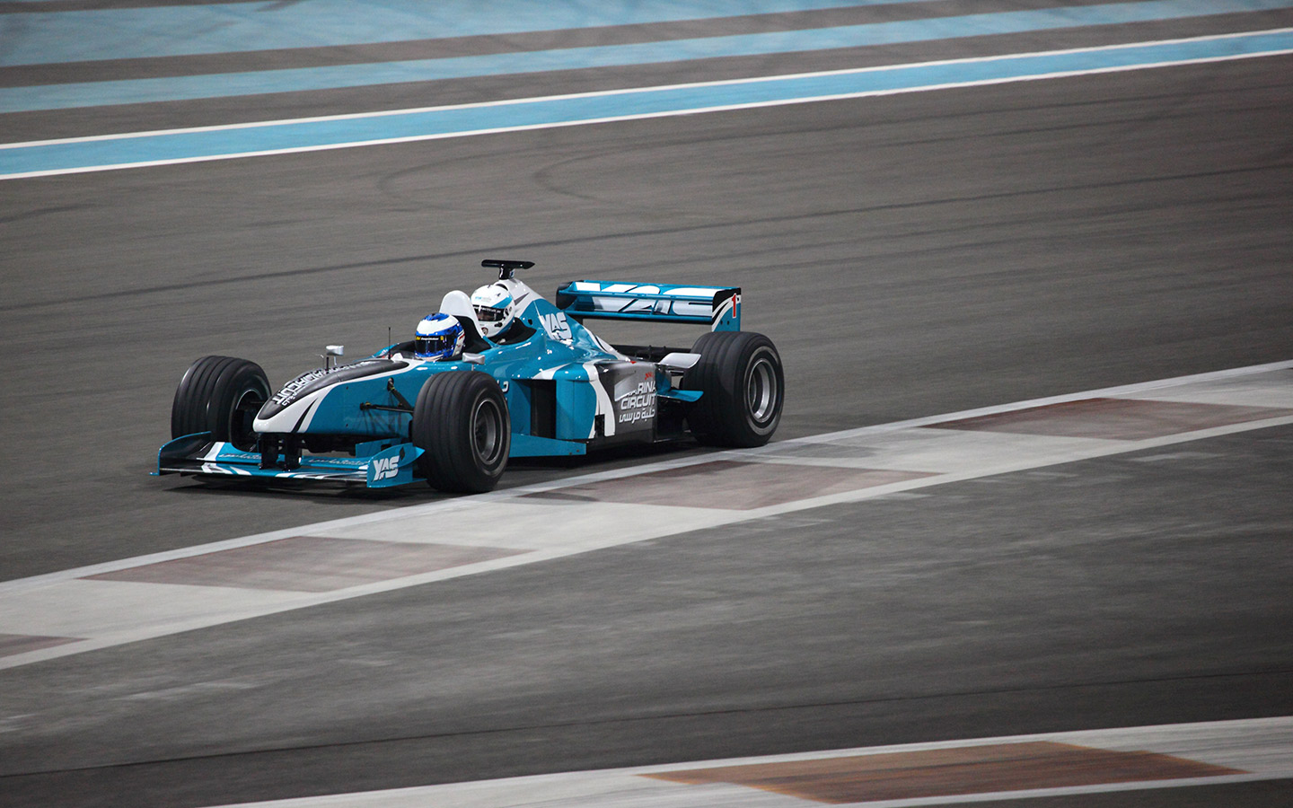 Try professional racing at the Yas Marina Circuit