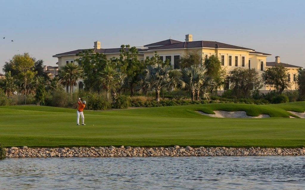 Man playing golf in Dubai Hills