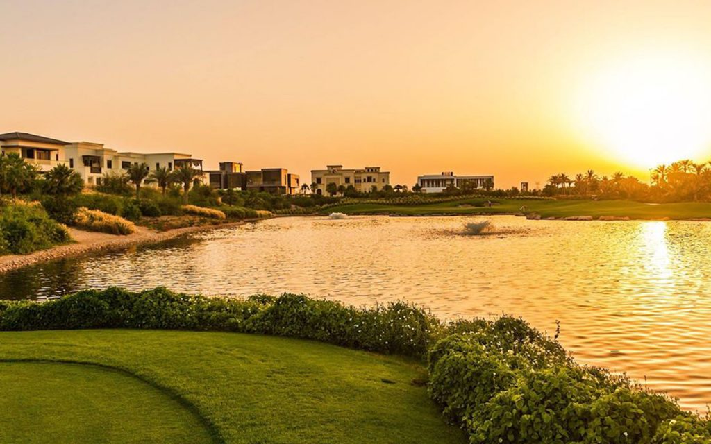Dubai Hills estate lake