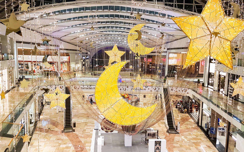 Eid decorations at shopping mall - UAE public holidays in 2019