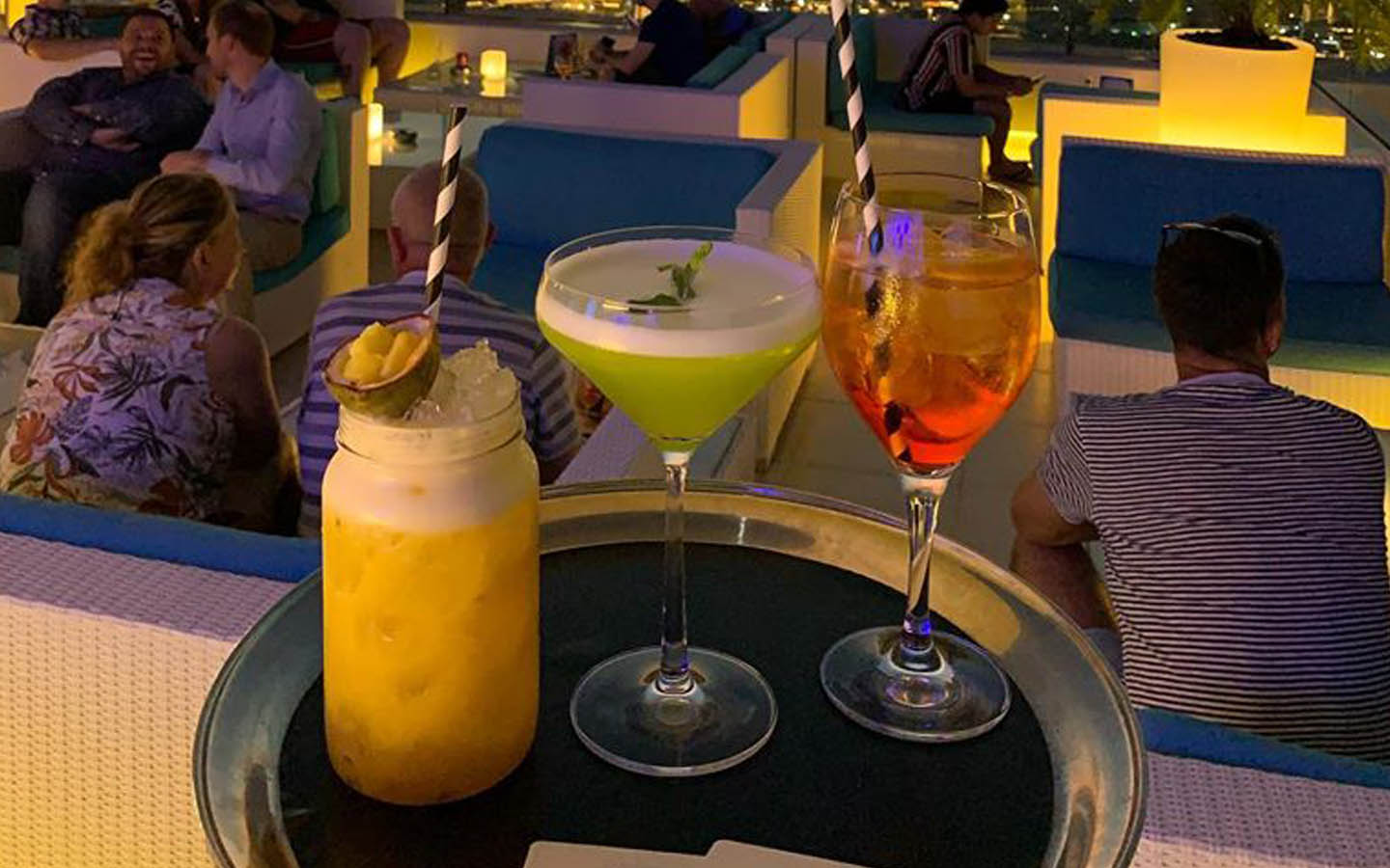 drinks at the Pure Sky Lounge in Dubai