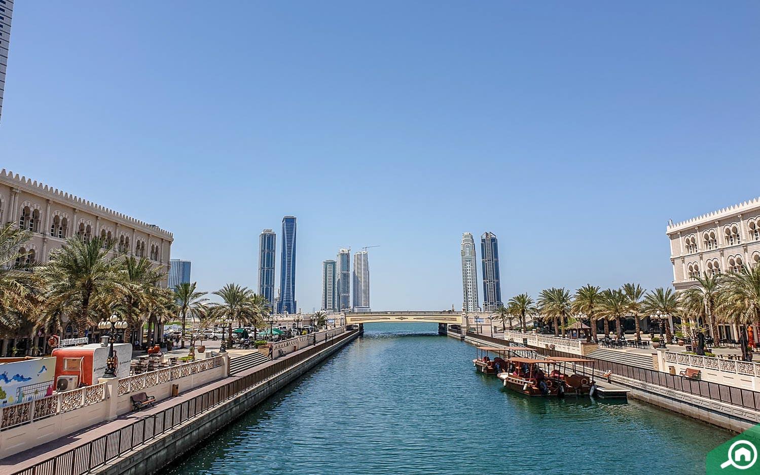 Al Qasba Canal in Sharjah