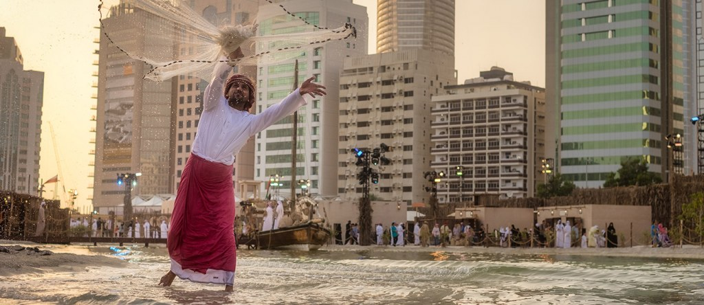 A performer at Qasr al Hosn