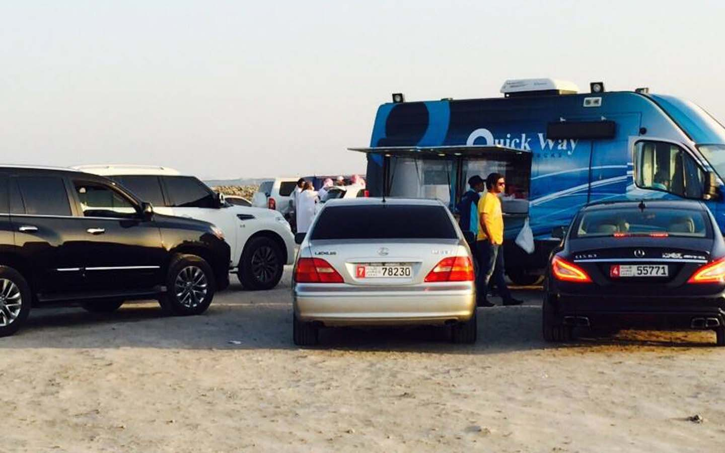 Quick Way is one of mobile food trucks in Abu Dhabi