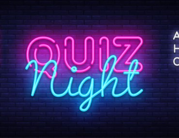 Neon sign for quiz night