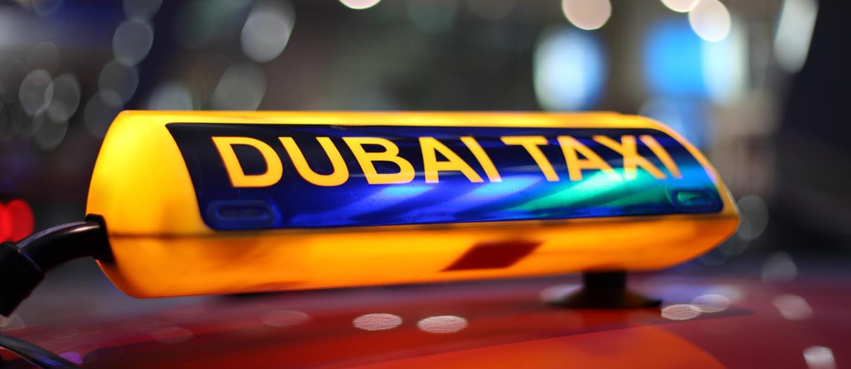 Dubai Taxi sign