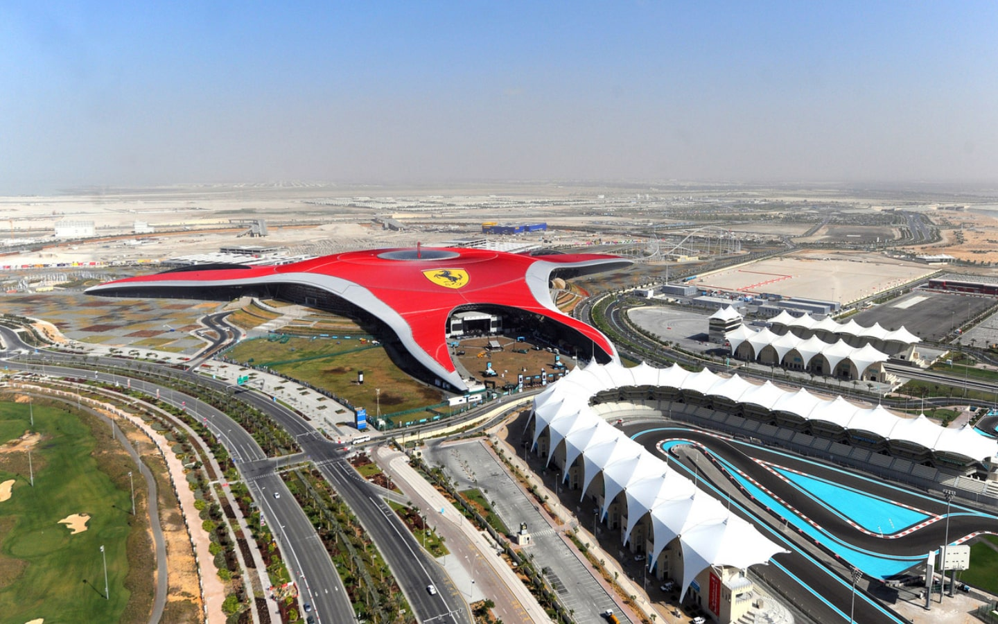 View of the Ferrari World theme park, which is part of the Abu Dhabi Eid hotel deals
