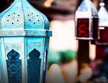 Ramadan decoration lights in a market