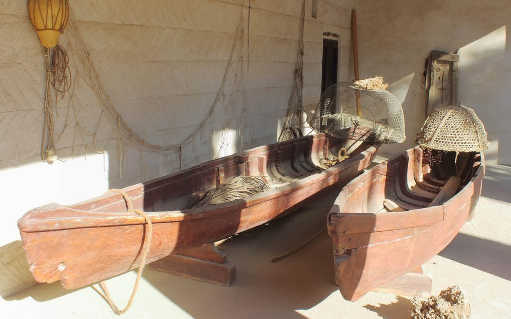 boats from the old times are exhibited in the RAK museum
