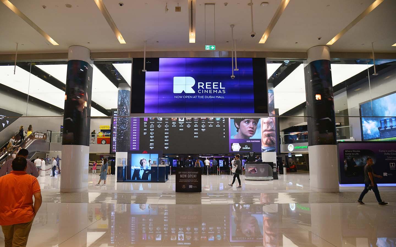 Reel Cinemas a Mega Cineplex inside Dubai Mall Shopping Center.