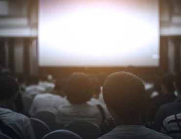 people at a film screening