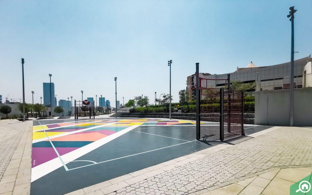 Basketball court on Al Reem Island
