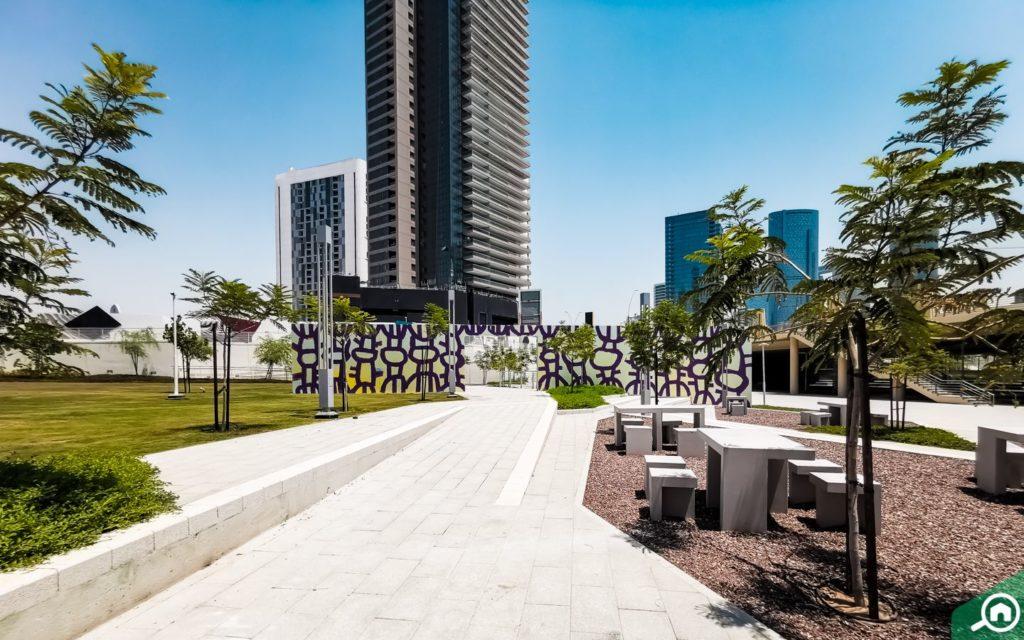 Reem central park in Abu Dhabi