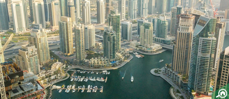View of Dubai Marina neighbourhood