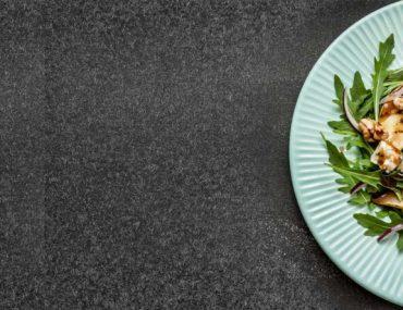 A salad plate