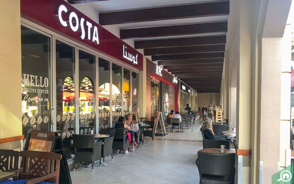 View of restaurants in Dubai Internet City