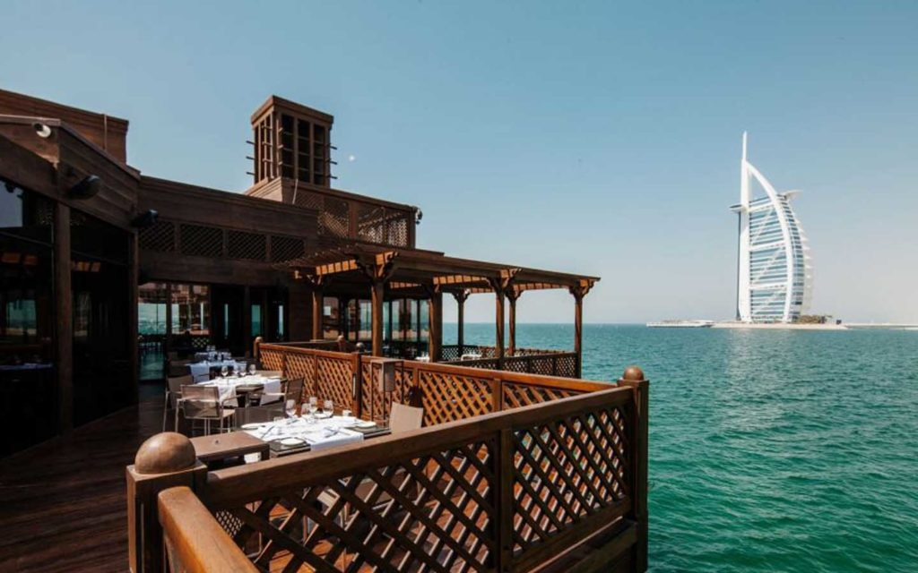 Pierchic overlooking the Burj Al Arab is one of the best restaurants in Dubai with a view