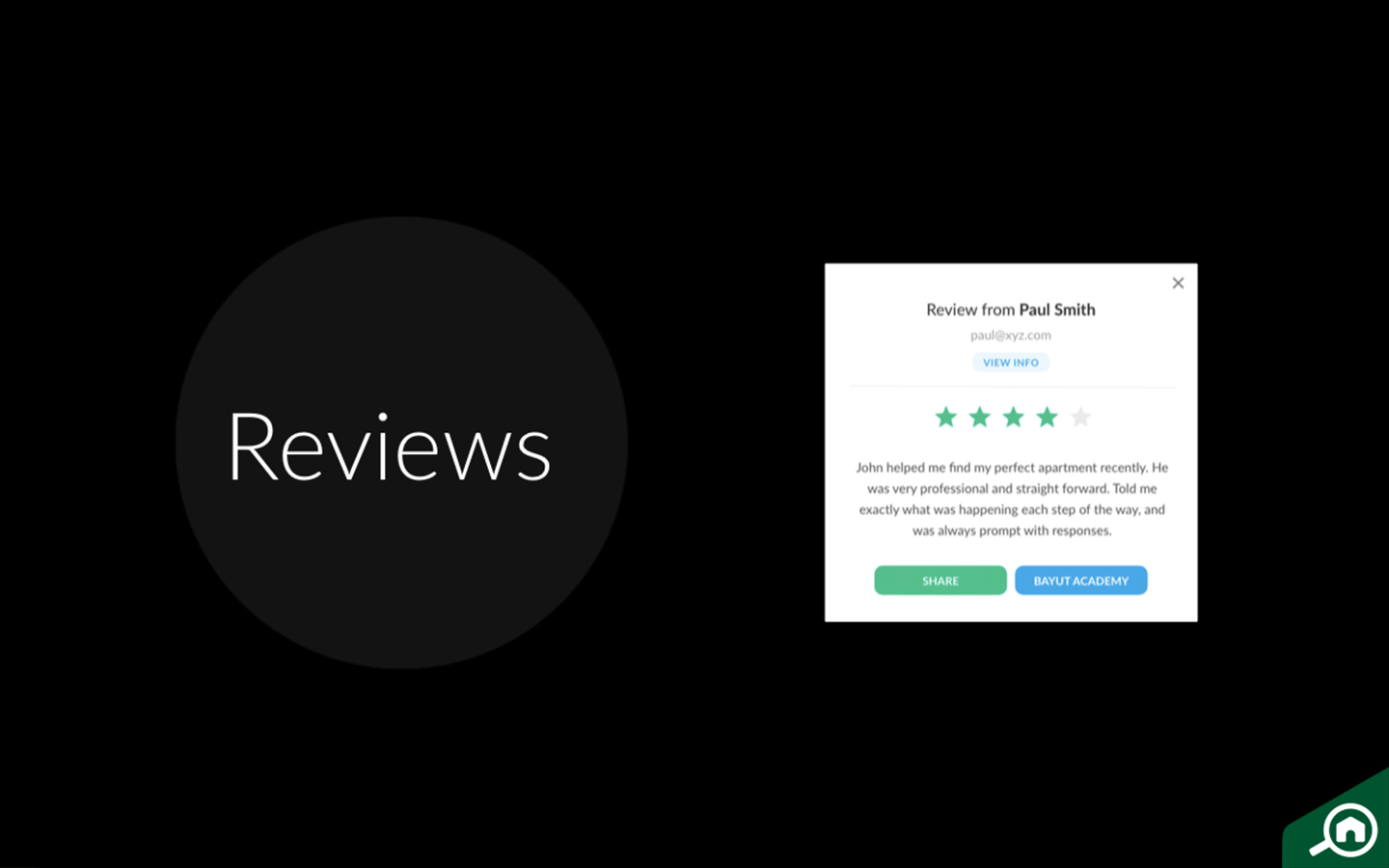 Reviews of agents on Bayut