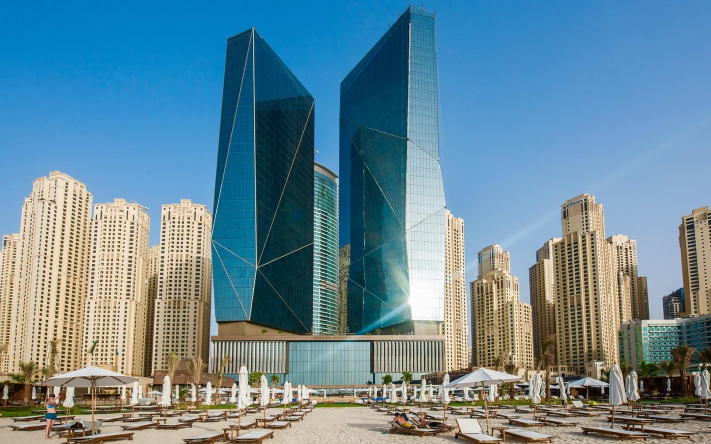 Exterior view of Rixos Premium JBR, which has Dubai hotel deals for New Year's