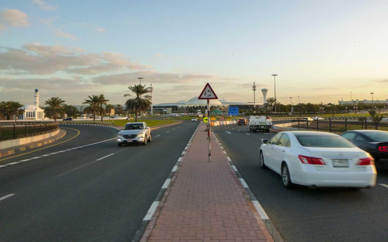Road in Sharjah Airport
