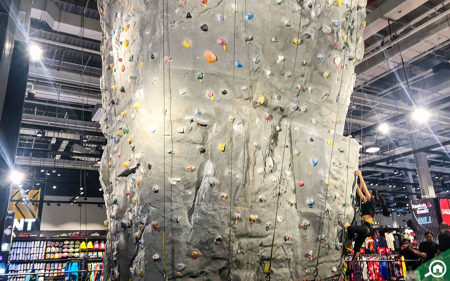 Rock Climbing at Mall of the Emirates