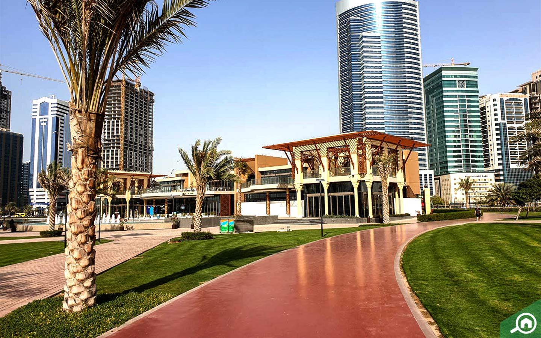 Running track at AlMajaz Waterfront