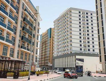 Street with buildings in Al Barsha Dubai