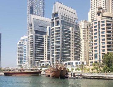 View of apartments in Dubai Marina