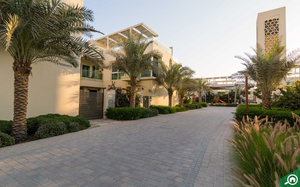 View of a villa in the Sustainable City Dubai