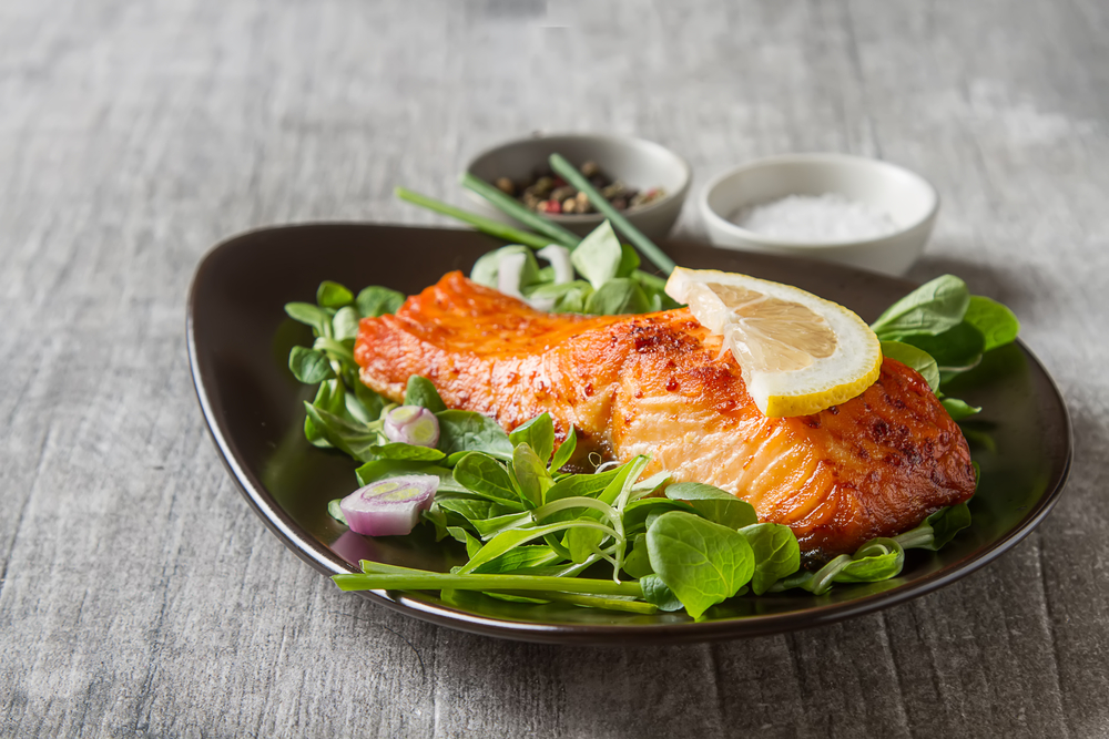 Salmon Steak at one of the most affordable steakhouses in Dubai