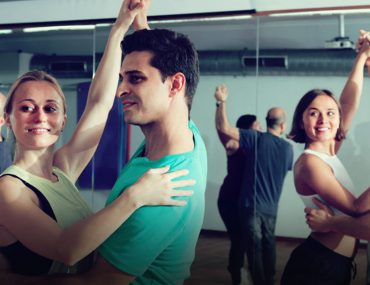 People attending a salsa class in Dubai