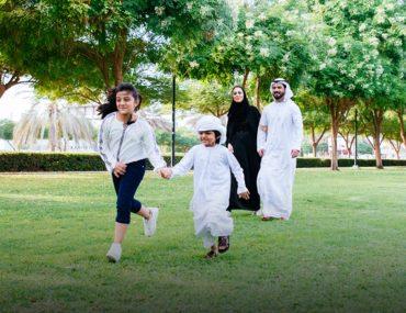 Family spending a day at Saqr Park in Ras Al Khaimah