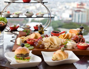 food spread at restaurant for a saturday brunch in Abu Dhabi