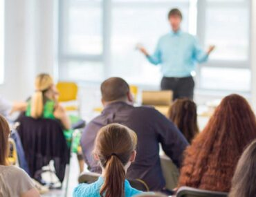 A classroom in a university offering scholarships in Dubai for international students