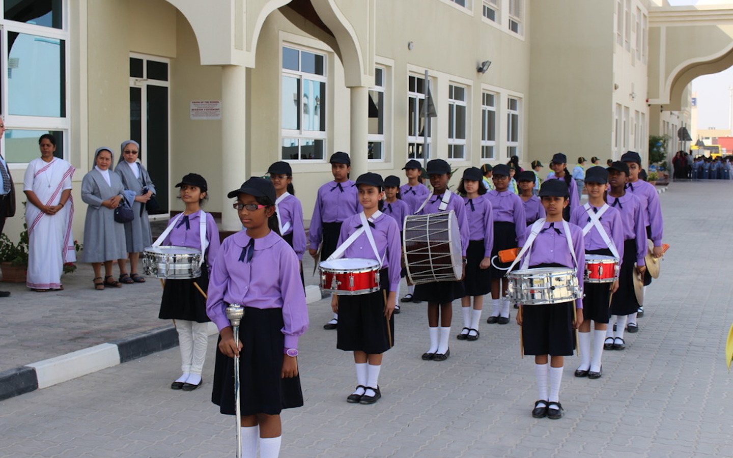 Female students in Assembly
