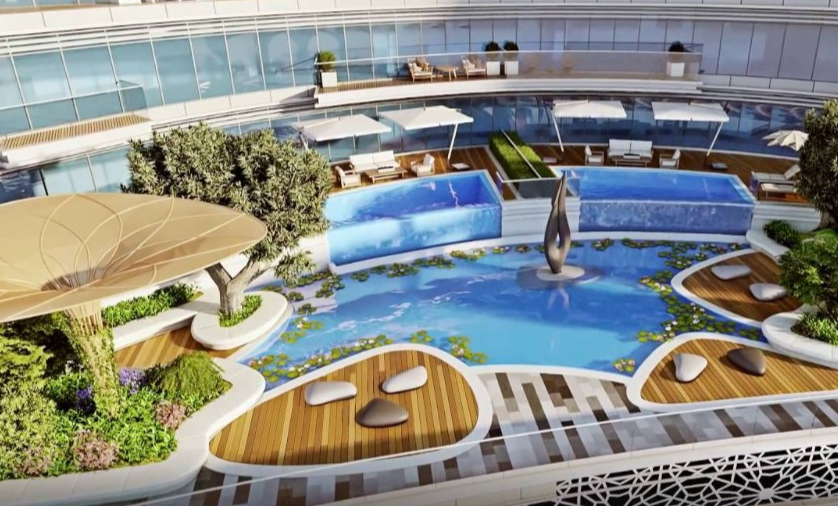 A private infinity pool in downtown Dubai