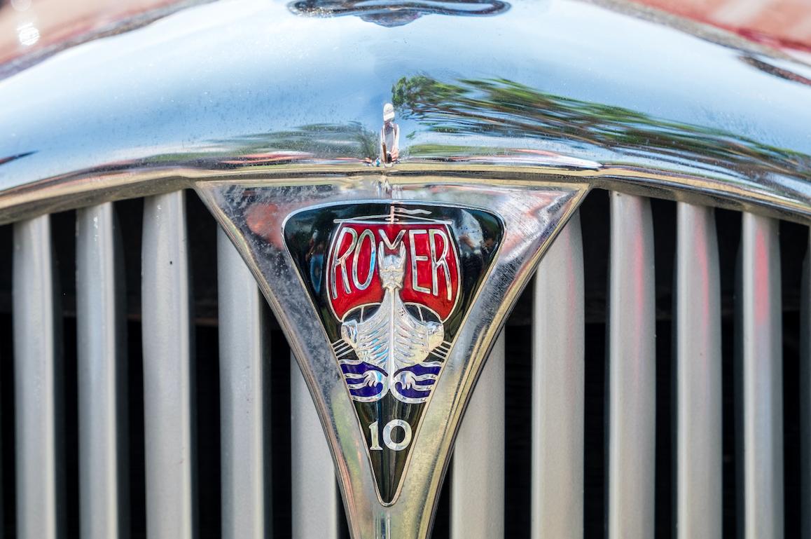 a vintage car hood