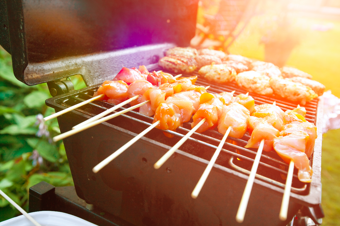 some chicken on the bbq