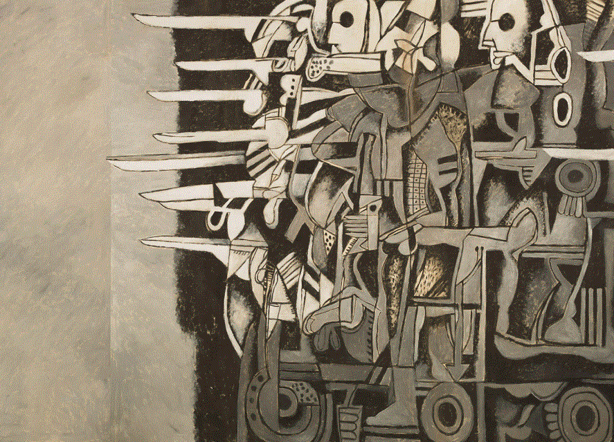 Mission of Destruction (Detail) by Dia Azzawi