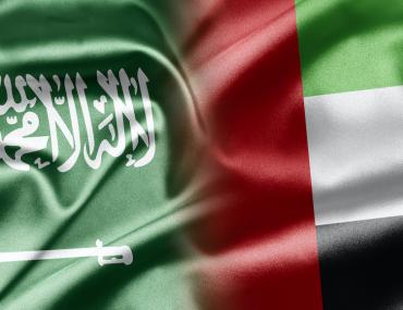 saudi arabian and UAE flag