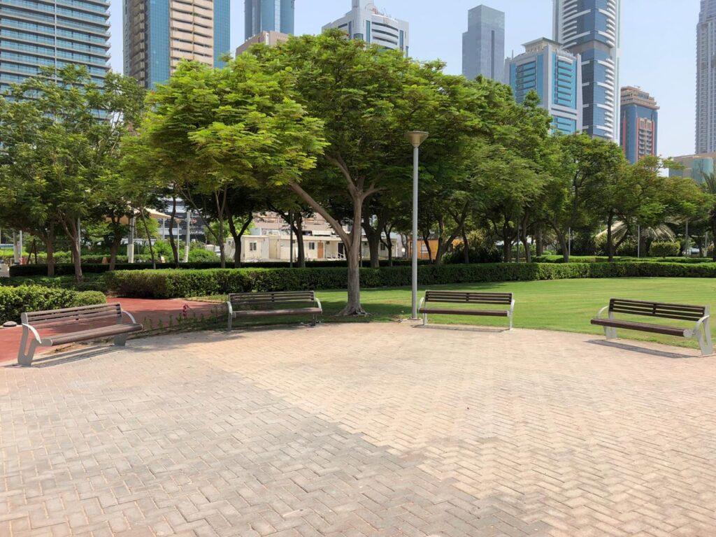 Seating area at Satwa Park Dubai