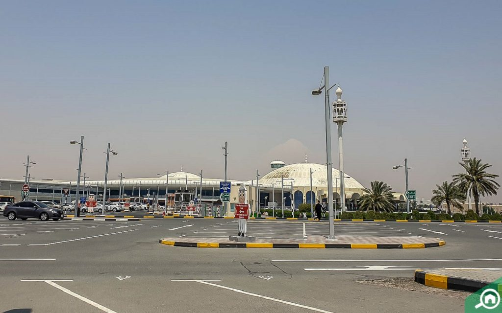 Outside view of Sharjah International Airport