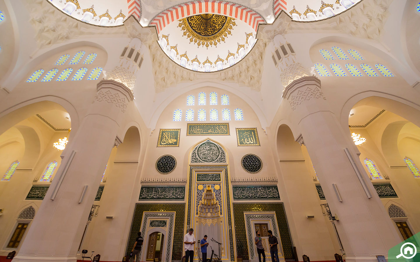 Mihrab of the new famous mosque in Sharjah