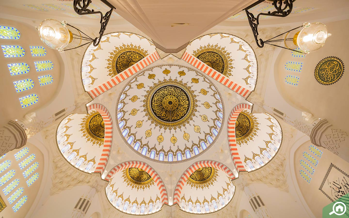 Domed ceiling at new Sharjah Mosque