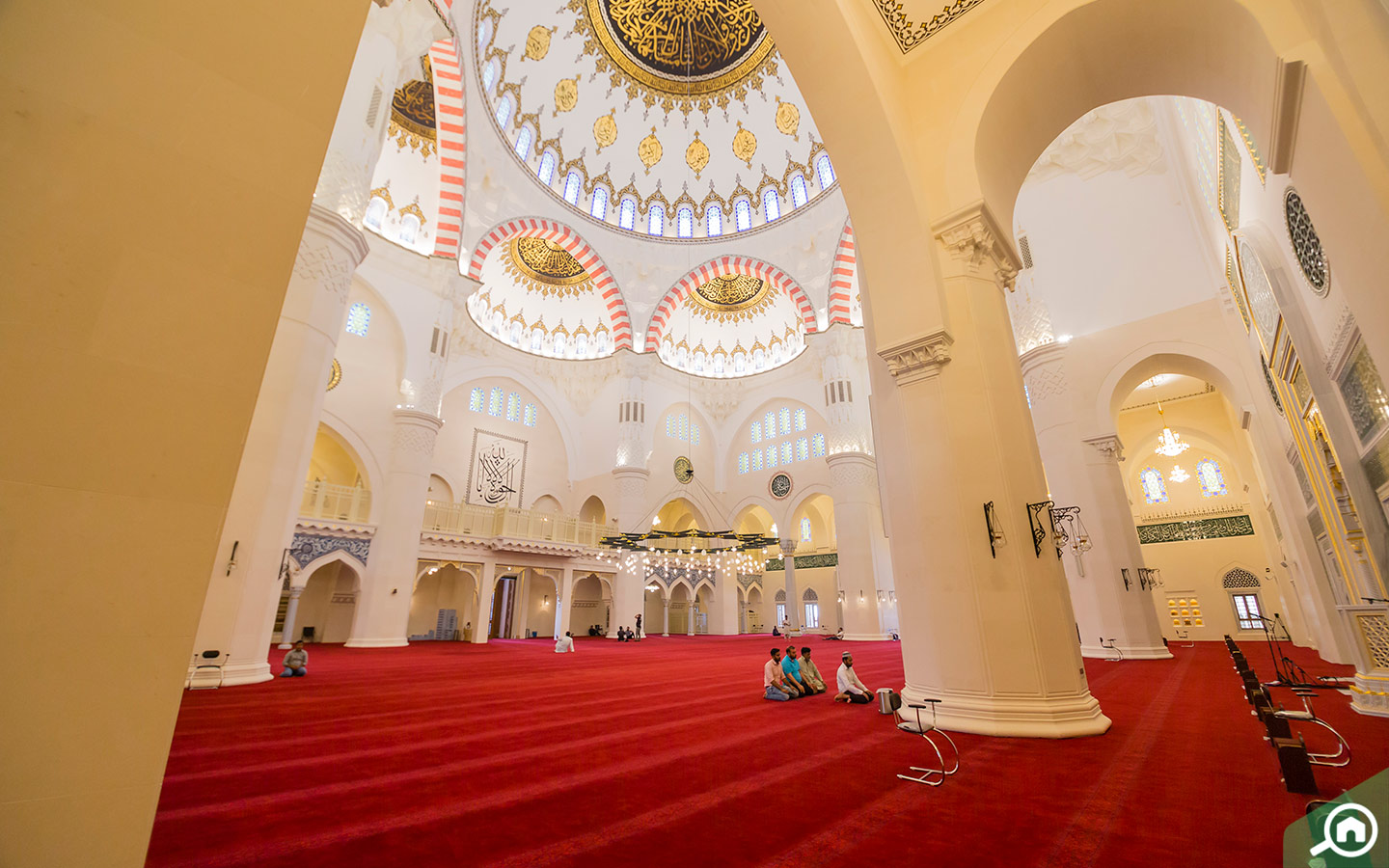 Main prayer hall at Sharjah new largest mosque