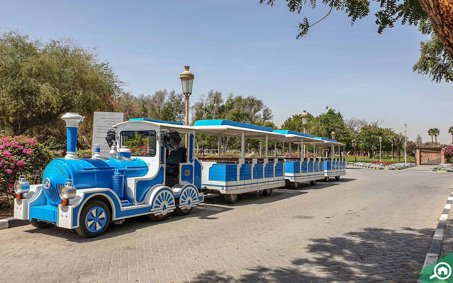 A train at a park in Sharjah